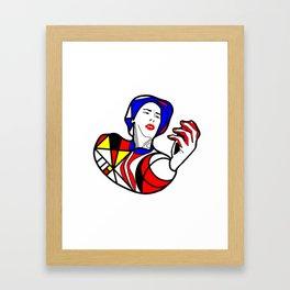 Mondrian glass portrait Framed Art Print