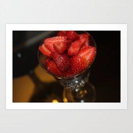 Strawberry Nights Art Print