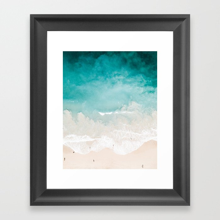 Maui Beach Drone Photo Framed Art Print by jennakutcher | Society6
