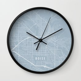 Boise Map, USA - Slate Wall Clock