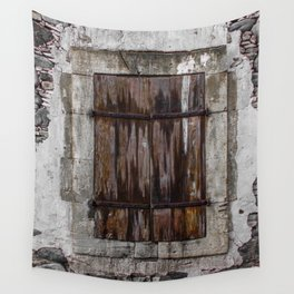 Wooden Window Wall Tapestry