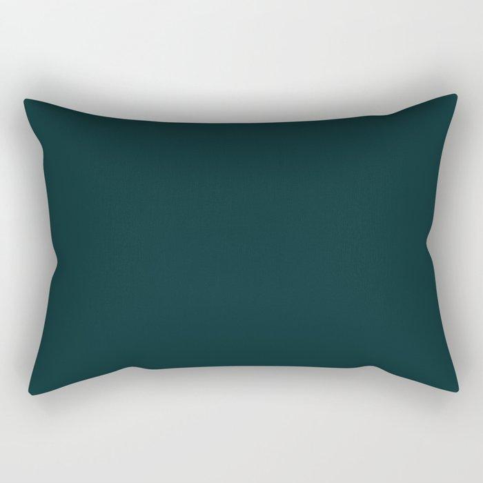 Sparkling Water ~ Dark Green-Blue Rectangular Pillow