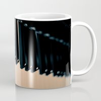 piano Mugs featuring piano by noirblanc777