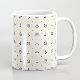 Anchors and Hearts Coffee Mug