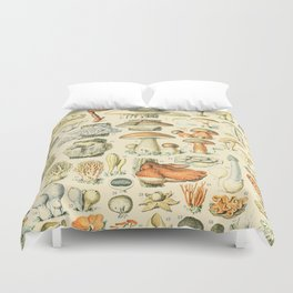 Mushroom Diagram // Champignons II XL by Adolphe Millot 19th Century Science Textbook Artwork Duvet Cover