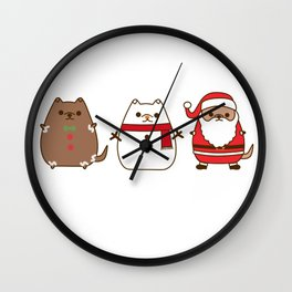 Cute Christmas Pupsheens Wall Clock