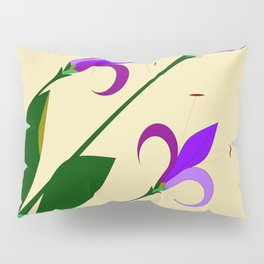 Lavenders and Violet Colored Lilies Pillow Sham