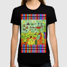 Christmas Village | Painting by Elisavet T-shirt