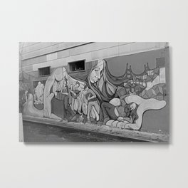 A Mission District Mural Metal Print