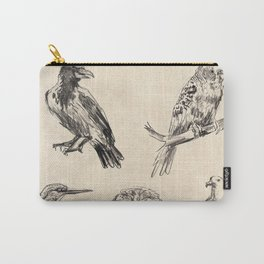 Bird vintage sketches 2 Carry-All Pouch