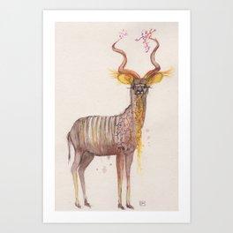 Ink Animals of Africa - Kgabi Kudu Art Print
