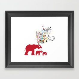 Me and my friends Framed Art Print