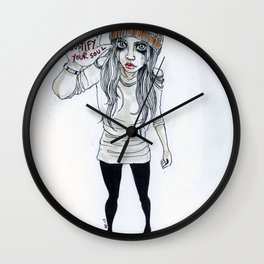 """Something to justify your soul"" Wall Clock"