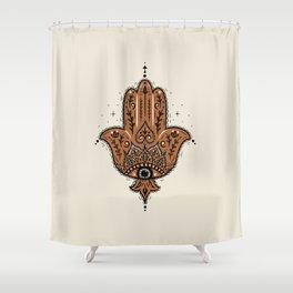 Hamsa Hand Shower Curtain