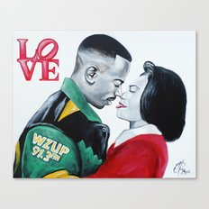 Black Love - Martin & Gina Canvas Print