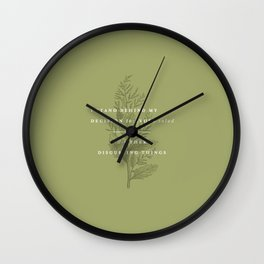 P + R Salad Wall Clock