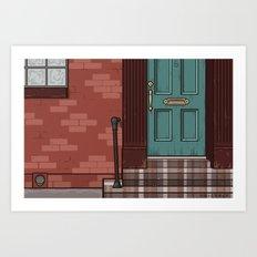 Green Door No. 6 Art Print