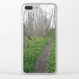 White Clay Super Bloom 2 Clear iPhone Case