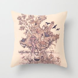 Fig Tree Island Throw Pillow