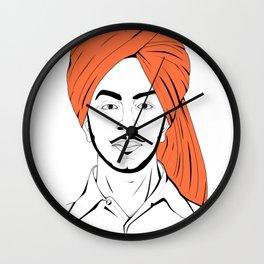 Bhagat Singh #IpledgeOrange Wall Clock