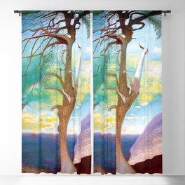 The Lonely Cedar, Coastal Landscape Painting by Csontváry Kosztka Tivadar Blackout Curtain