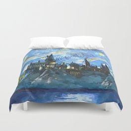Starry Night in Hogwarts Castle - HP Duvet Cover