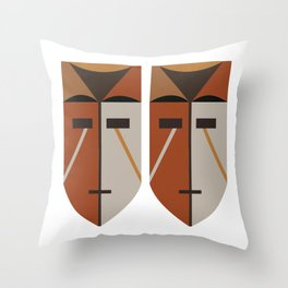 African Tribal Mask No. 4 Throw Pillow