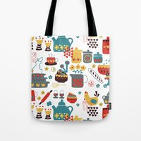 kitchen Tote Bags featuring Kitchen by Kathrin Legg