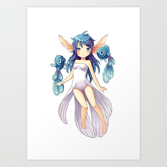 Mermaid 2 Art Print