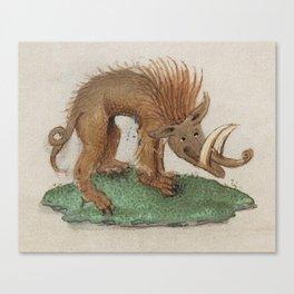 Medieval wild boar or warthog Canvas Print