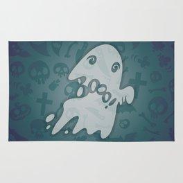 Halloween Card with Spooky Boo! Rug