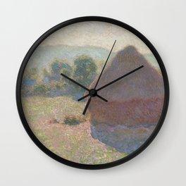 Meules, milieu du jour [Haystacks, midday] Wall Clock