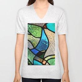 Stained glass Unisex V-Neck