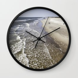 Alone at the Beach Wall Clock