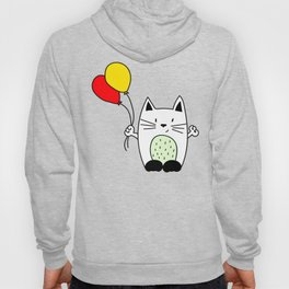 Cat with balloons Hoody