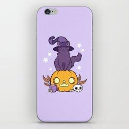Pumpkin Cat iPhone Skin