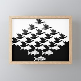 Escher - Sky and Water Framed Mini Art Print