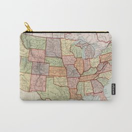 Vintage Map of The United States (1887) Carry-All Pouch