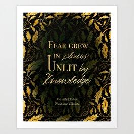 Unlit by Knowledge Art Print