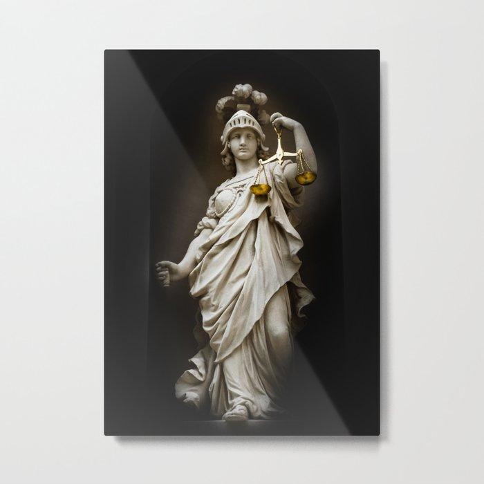 Themis statue at Linderhof Metal Print