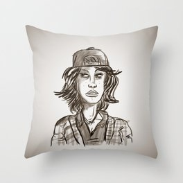 Hypebeast with Braces as a Girl Throw Pillow