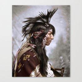 Cree Indian - Maple Creek, Saskatchewan, 1903  Canvas Print