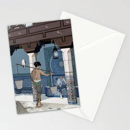 A meeting on a sunny day in a foreign land Stationery Cards