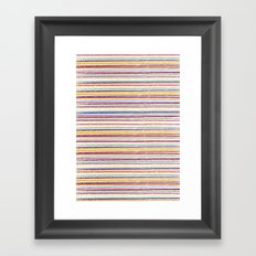 SUMMER CRAYON STRIPES Framed Art Print