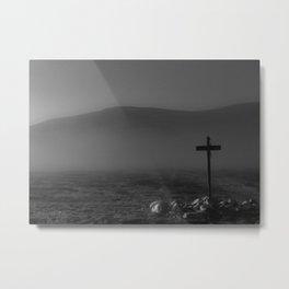 The Hiking Cross Metal Print