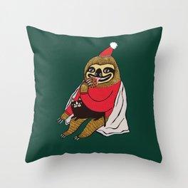 Christmas Sloth Throw Pillow