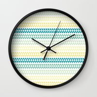 knit Wall Clocks featuring Knit 1 by K&C Design