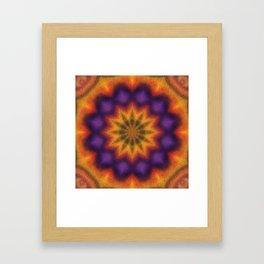Purple and Yellow Kaleidoscope Framed Art Print