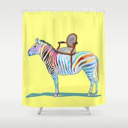 animals with chairs #4 Chair on a Zebra Shower Curtain