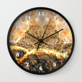Coral Above the Sun Wall Clock